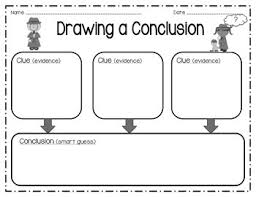 drawing conclusions graphic organizer by sara gleason tpt