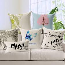 pillow covers for sofa fancy cushion cover modern minimalist blue butterfly pink tree