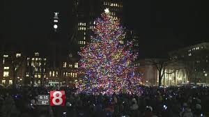 new haven ct tree lighting 2017 christmas tree now up on new haven green wtnh