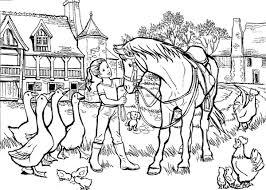 Coloriage Equitation  Les beaux dessins de Sport à imprimer et