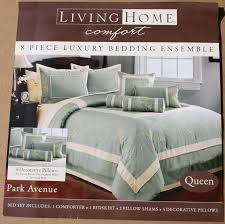 decorative bed pillows shams living home comfort 8 piece bedding ensemble queen bed set