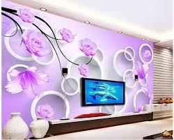3d murals 3d murals wallpaper for living room roses 3d stereoscopic circle