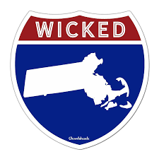 boston red sox bruins and other stickers and decals chowdaheadz wicked massachusetts highway sign sticker chowdaheadz