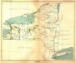 New York Map Us Indian Land Cessions In The U S New York Map 47 United States