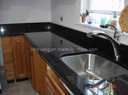 comptoir de cuisine noir noir galaxy comptoir de granit pour la cuisine salle de bains noir