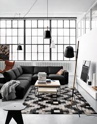 black white wood decor in copenhagen studio apartment