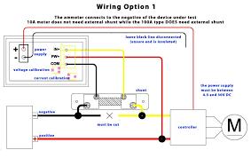 dual digital display dc voltmeter ammeter 0 in dc shunt wiring