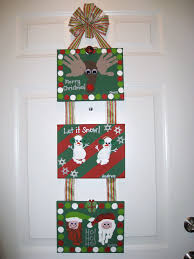 christmas handprint footprint canvas craft kid craft ideas