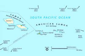 map of american political map of american samoa