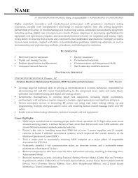 maintenance resume sample u2013 inssite