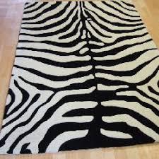 masai rugs mas02 pure wool zebra animal print amazon co uk