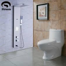 pannelli per vasca da bagno nichel spazzolato pannello in acciaio inox termostatica colonna