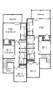 georgian duplex home plan 023d 0014 house plans and more