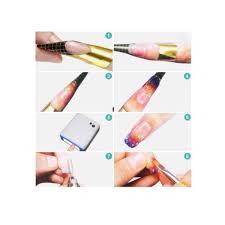 amazon com leegoal nail art tips forms acrylic uv gel tips