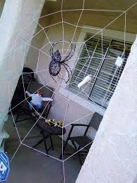 cobweb spray for halloween halloween spiderweb 6 steps with pictures