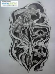 skulls half sleeve design tattoomagz