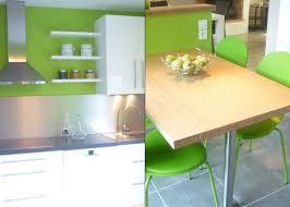 cuisine mur vert pomme chambre verte pomme