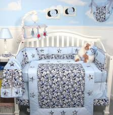 Nursery Bed Sets Soho Modern Blue Camouflage Baby Crib Nursery Bedding