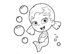 printable 9 bubble guppies coloring pages oona 7085 free