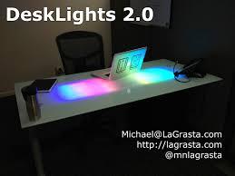 Computer Desk Light by Led Glass Desk V2 0 5 Steps
