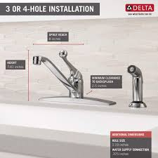 faucet com 400lf wf in chrome by delta