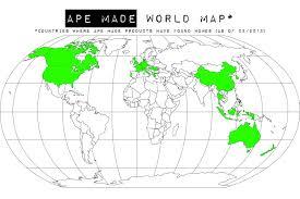 Hungary World Map Worldwide Ape Made