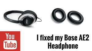 Bose Ae2 Replacement Ear Cushions I Finally Fixed My Headphone Bose Ae2 Youtube