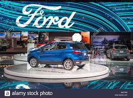 detroit mi usa january 10 2017 a 2018 ford ecosport suv car