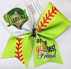softball bows diamonds are a best friend glitter softball bow softball