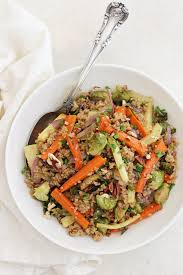 roasted root vegetable quinoa pilaf cook nourish bliss