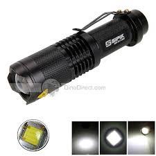 le torche cree sipik sk68 cree q5 mini adjustable zooming led flashlight black