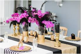 black and gold wedding ideas opulent black and gold wedding ideas with a pop of pink