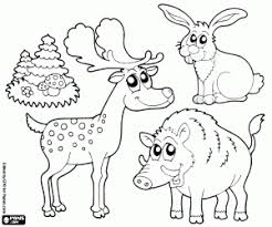 Forest Animals Coloring Pages Printable Games Forest Animals Coloring Pages