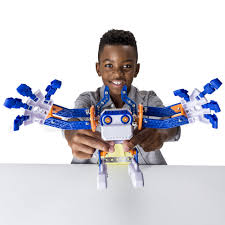 Bedroom Basher Meccano Erector Micronoid Blue Basher Programmable Robot