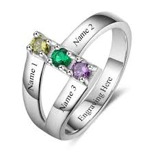 a mothers ring stacked ribbon band s ring or grand ring think engraved