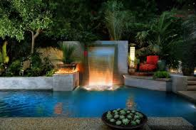modern swimming pool waterfalls relaxing swimming pool