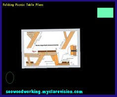 folding picnic table and bench 154455 woodworking plans and