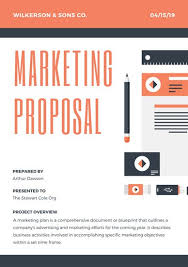 design proposal canva orange icons marketing proposal templates by canva