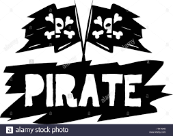 Picture Of A Pirate Flag Pirate Flag And Logo Design Concept Stock Vector Art