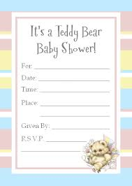 teddy baby shower invitations teddy invitations for a baby shower