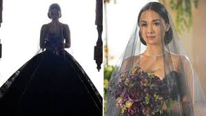 Black Wedding Dress Why Maja Salvador U0027s Ivy Aguas Wore A Black Wedding Gown In