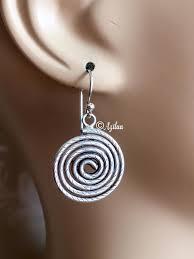 designer earrings spiritual sterling spiral silver earrings designer earrings