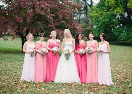 Pink Bridesmaid Dresses Long Pink Ombre Bridesmaid Dresses This Would Be So Cool In