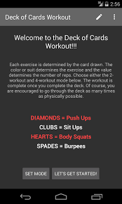 deck of cards workout android apps on google play