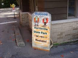 harrisville state parks haunted halloween weekend
