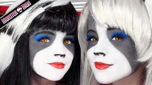 kids halloween makeup the werecat sisters monster high doll costume makeup tutorial for