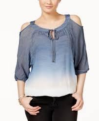 ombre blouse bcx juniors cold shoulder ombre blouse tops juniors macy s