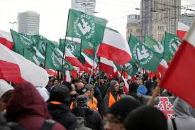 White Power Flags Nationalist March Dominates Poland U0027s Independence Day The New