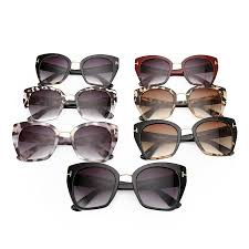 cat eye sunglasses with black and clear gradient lenses ss191