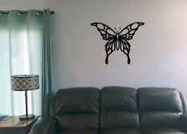 Wall Art Images Home Decor Butterfly Tribal Wall Art Black Wood Home Decor U2013 Eye Grind Design